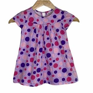 Hanna Anderson Pink Polka Dot Top Size 4T